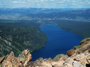 Redfish Lake from Grand Mogul Summit