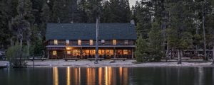 Redfish Lake Lodge and lake