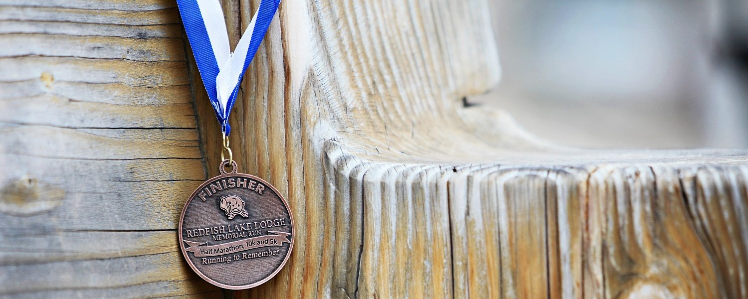 medal on bench