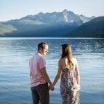 couple at Redfish Lake