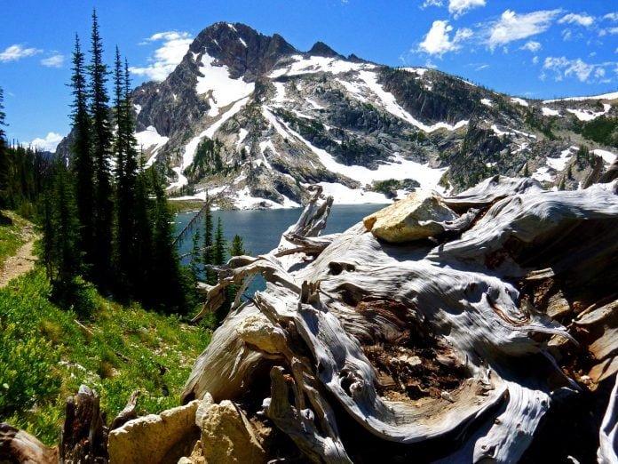 landscape of Washington Lake in Idaho