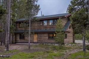 a cabin at Redfish Lake Lodge