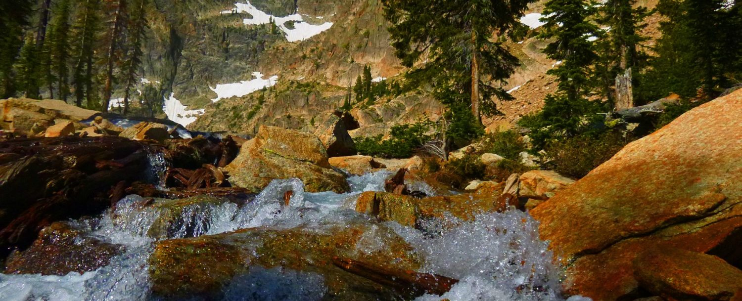 a beautiful waterfall in Central Idaho
