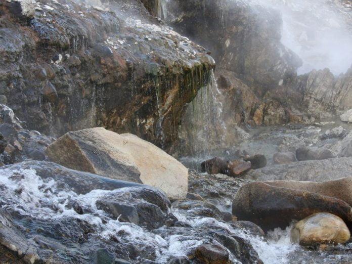 a hot spring in Idaho