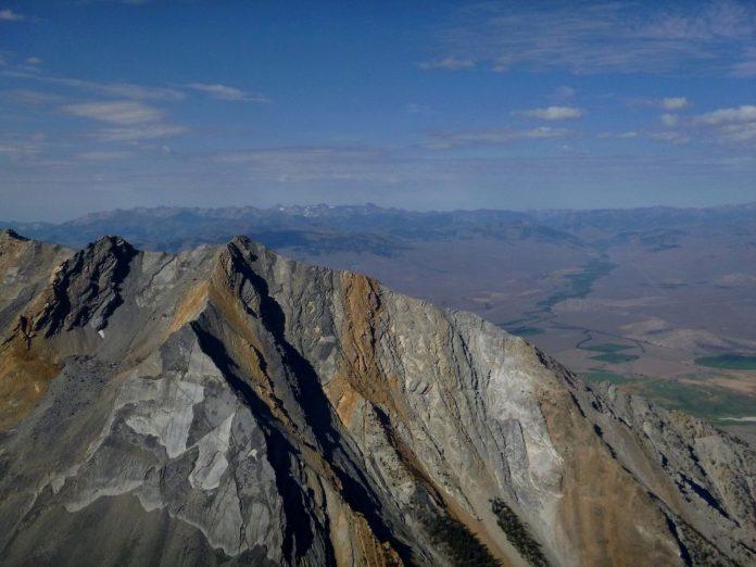 the peak of Mount Borah