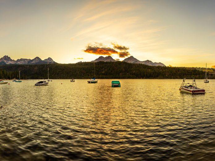 Redfish Lake sunset/sunrise