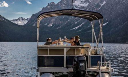 Sunset Cruise on Pontoon Boat on Redfish Lake