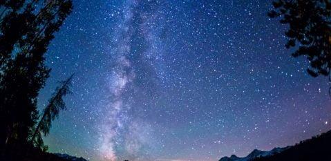 Redfish lake night sky