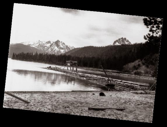 Historical Photo of Redfish Lake Lodge