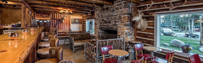 Lounge at Redfish Lake Lodge